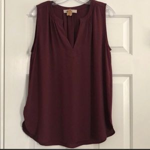 {LOFT} shell blouse top short sleeve Ann Taylor